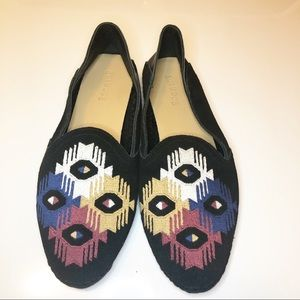 Anthropologie-Soludos Embroidered Venetian Loafer